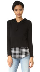 Generation Love Chester Plaid Hoodie Black