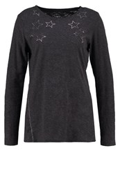 Gap Long Sleeved Top Charcoal Grey Dark Grey