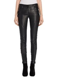 Alexander Mcqueen Leather Biker Pants Black