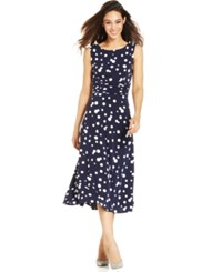 Jessica Howard Petite Polka Dot A Line Dress
