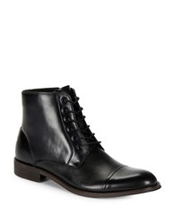 Kenneth Cole Reaction Direct Route Lace Up Cap Toe Boots Black