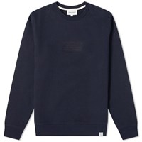 Norse Projects Vagn Embroidered Logo Sweat Blue