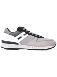 Hogan Rebel Lace Up Trainers Men Leather Suede Polyamide Rubber 9 Grey