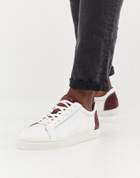 Selected Homme Premium Trainers With Suede Heel White