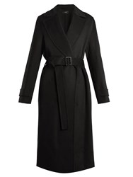 Joseph Dale Peak Lapel Cashmere Blend Trench Coat Black