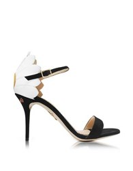 Charlotte Olympia Marge Black White And Sunny Yellow Suede And Leather Sandal Multicolor