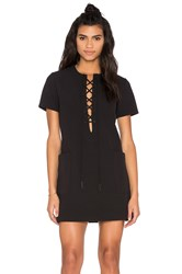 Kendall Kylie Lace Up Safari Dress Black