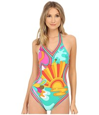 Trina Turk Playa Azul Monokini White Women's Swimsuits One Piece