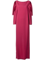 Chalayan Open Sleeve Dress Pink Purple