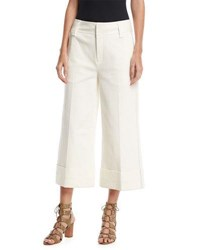 Derek Lam Stretch Twill Cuffed Culottes White