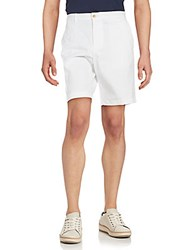 Michael Kors Solid Cotton Stretch Shorts Midnight