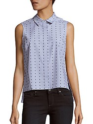 Prose And Poetry Polka Dot Cotton Top French Navy