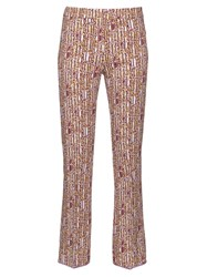 Giambattista Valli Abstract Print Cropped Flared Trousers