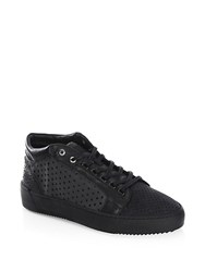 Android Leather Mid Top Sneakers Black