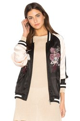 Sanctuary Relaxed Sakura Blossom Bomber Black