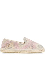 Manebi Palm Springs Print Espadrilles Neutrals