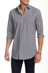14Th And Union Alpha Long Sleeve Printed Trim Fit Shirt Black