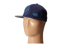The North Face Stitch Right Flat Brim Hats Cosmic Blue Heron Blue Caps Navy