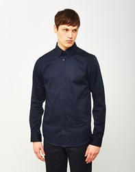 Selected Travis Belfast Shirt Navy