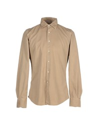 Glanshirt Shirts Shirts Men Beige