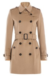 Burberry London Virgin Wool Trench Coat With Cashmere Camel