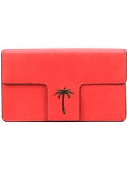 Tomas Maier T Flap Clutch Yellow And Orange