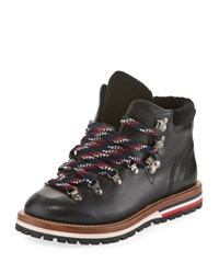 Moncler Blanche Leather Hiking Boot Black