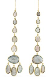 Pippa Small 18 Karat Gold Labradorite Earrings One Size