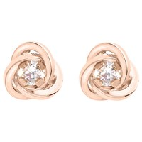 Ibb 9Ct Gold Knot Stud Earrings Rose Gold