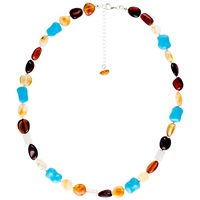 Be Jewelled Sterling Silver Baltic Amber Bead Necklace Amber