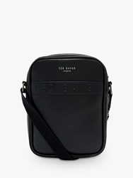 Ted Baker Flyer Debossed Flight Bag Black