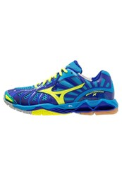 Mizuno Wave Tornado X Volleyball Shoes Diva Blue Neon Yellow Surf The Web