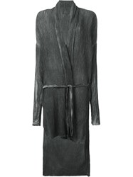 Lost And Found Ria Dunn Tie Waist Long Cardigan Grey