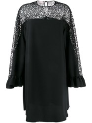 Giamba Lace Insert Swing Dress Black