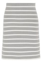 Richard Nicoll Striped Stretch Knit Skirt Gray