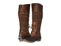 Sperry Saltwater Sela Brown Wool Plaid Women's Boots Tan