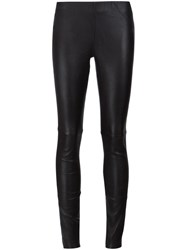 Anine Bing Leather Leggings Black