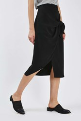 Boutique Tie Front Skirt By Black