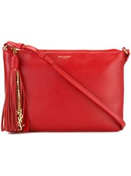 Saint Laurent Small 'Monogram' Crossbody Bag Red