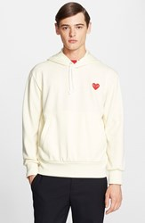 Comme Des Garcons Men's Play Pullover Hoodie Off White