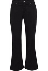 Iris And Ink Mid Rise Kick Flare Jeans Black
