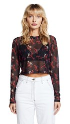 Public School Charlie Top Flower Print