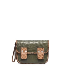 Michael Kors Taylor Large Crocodile Clutch Juniper