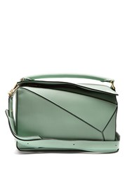 Loewe Puzzle Leather Bag Light Green