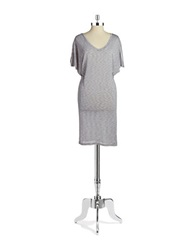 Bench V Neck Tee Shirt Dress Grey