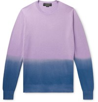 Stella Mccartney Dip Dyed Cashmere And Wool Blend Sweater Purple