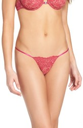 Free People Women's What She Said Thong Pink Combo