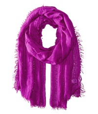 Echo Crinkle With Sequins Wrap Forest Berry Scarves Multi