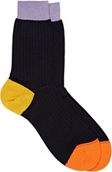 Richard James Rib Knit Mid Calf Socks Colorless