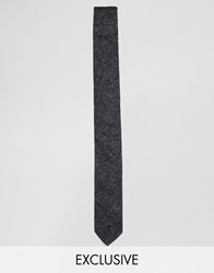 Reclaimed Vintage Velvet Tie In Black Black